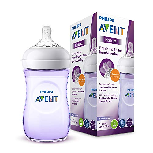 Philips Avent Biberon Natural anti-colica, 260ml, Viola SCF033/14