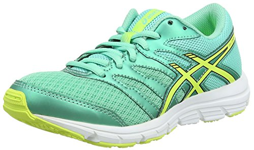 ASICS Gel-Zaraca 4 Gs, Unisex-Erwachsene Laufschuhe, Blau (Aqua Mint/Flash Yellow/Black 7007), 38 EU (Asics Schuhe Running Flash Gel)