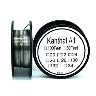 Kanthal A1 20 Gauge Resistance Wire AWG 30 ft Lengths
