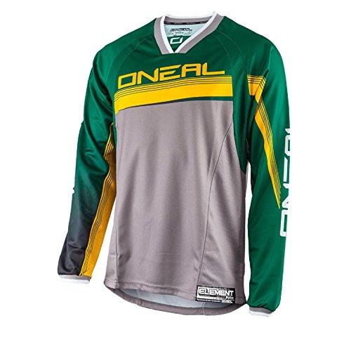 O\'Neal Element FR Langarm MTB Jersey Grün Gelb Downhill Freeride Moto Cross Mountain Bike, 0075S-9, Größe Medium