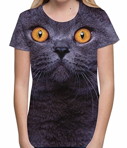 British Shorthair Cat Big Cute Face Unisex Women's T-Shirt - S