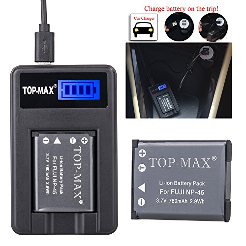 top-maxr-np-45-battery-rapid-usb-charger-for-fujifilm-finepix-xp50-xp60-z10fd-z20fd-z30-z31-z33wpj10