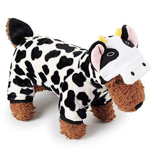 eme korallenrote samt Hund kostüm Milch kühe pet Kleidung Cosplay Kleidung pet liefert 1 stück m größe ()