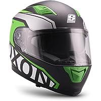 Soxon, Casco de Moto, Verde, tamaño S (55 ...
