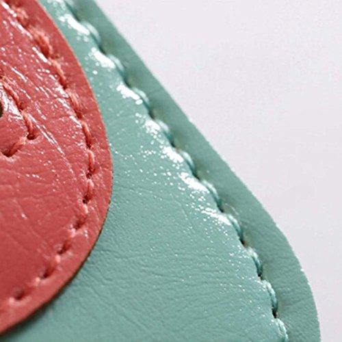 Ouneed®, Borsa a spalla donna Bianco verde Rosa acceso