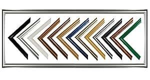Biggy Kunststoff Bilderrahmen 26x32 cm 32x26 cm Farbwahl: hier Schwarz hochglanz mit Antireflex-Acrylglas