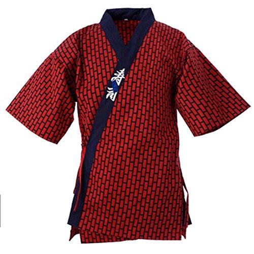 Esta chaqueta / vestido está diseñado para los restaurantes de gama alta y bar. ¡Con estilo japonés elegante y con estilo, el color brillante y el diseño interesante del modelo, esto hará que toda la hospitalidad y el personal del abastecimiento se v...