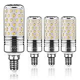 Yiizon LED M Glühbirne, E14, 15W, entspricht 120 W Glühlampe, 3000 K Warmweiß, 1500LM, CRI>80 +, kleine Edison-Schraube, nicht dimmbar Kandelaber LED Glühlampen(4 PCS)