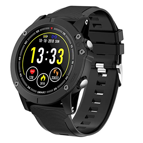 HolyHigh Bluetooth Smartwatch Fitness Tracker Sport Uhr Smart Watch mit IP68 Wasserdicht H