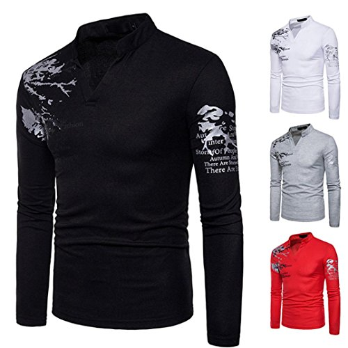 Toamen 2018 New Men's Fashion Stand Neck Print Long Sleeved Casual Pullover Sweatshit Compression T-Shirt Top Blouse