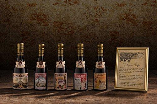 """Preisvergleich Produktbild Commemorative Collection """"Ancient Universal Expositions"""" - Set of 5 bottles Bottle PGI Balsamic Vinegar of Modena Champagnotta 250 ml"""