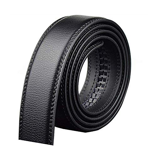 aoliaoyudonggha Plus Size Men Black Genuine Leather Belt Automatic Buckle Male Belt -