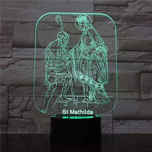 3d Nachtlicht, Nachtlampe, Nachtlicht, kleiner Tisch Schreibtisch Nachtlicht, Acryl, LED USB Mutter Mutter Familie Schlafzimmer Nacht Dekorative Beleuchtung Halloween Geschenk -