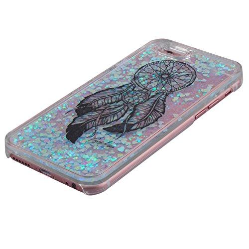 Voguecase® Pour Apple iPhone 6/6S 4.7, Luxe Flowing Bling Glitter Sparkles Quicksand et les étoiles Hard Case étui Housse Etui(Noir Dreamcatcher) de Gratuit stylet l'écran aléatoire universelle Noir Dreamcatcher