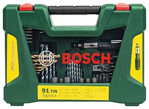 Bosch DIY 91tlg. V-Line Titanium-Bohrer- und Bit-Set mit Ratschen-Schraubendreher und Magnetstab - 2