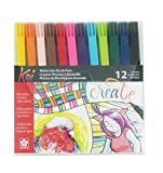 Koi Coloring Brush Pens 12/Pkg-Assorted