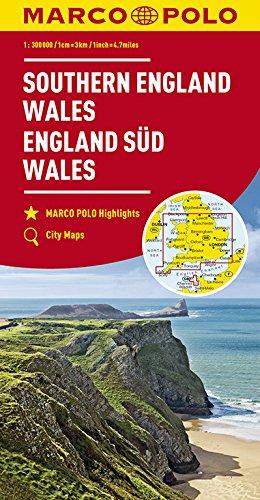 MARCO POLO Karte Großbritannien England Süd, Wales 1:300 000: Wegenkaart 1:300 000 (MARCO POLO Karten 1:300.000)