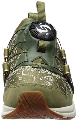 Puma Disc NC Swirl blace Sneaker Women Trainers 357289 01 green Olive