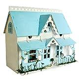 DYFO Puppenhaus DIY Set Mit Licht Als und Mini Möbel Ideal für Kinder Weihnachten Geschenk