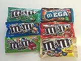 M&Ms American Candy Variety Pack - 6 Items - M&M's Mint, Almond, Pretzel, Peanut Butter, Crispy & Mega Milk Chocolate