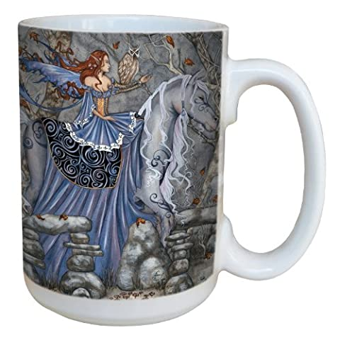 Tree-Free Greetings lm43601 15 oz Fantasy Enchanted Journey Rhiannon Fairy Ceramic Mug with Full Sized