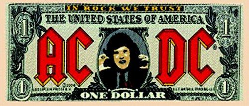 AC/DC Aufnäher BANK NOTE Patch gewebt 16 x 6,5 cm (Fallen Gewebt Shirt)