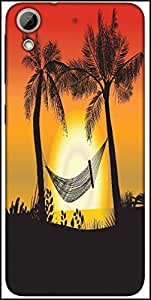 Snoogg Summer Illustration Designer Protective Back Case Cover For HTC Desire 626