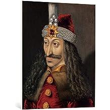 """Cuadro en lienzo: AKG Anonymous """"Vlad Tepes (Dracula) / Portrait, C16th."""" - Impresión artística de alta calidad, lienzo en bastidor, 80x95 cm"""