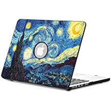 Fintie Macbook Air 13 Funda - Cuero de la PU + Cubierta de la caja de cáscara dura para Apple MacBook Air 13.3 Pulgadas (A1466 / A1369), Starry Night