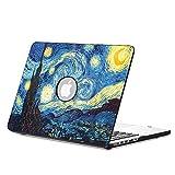 Fintie Funda para Macbook Air 13 - Carcasa Dura con Cuero Sintético para Apple MacBook Air 13.3 Pulgadas (A1466 / A1369), Starry Night