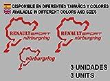 Ecoshirt 4Q-JBDZ-NMPJ Adesivi Stickers Renault Sport Nürburgring F25 Aufkleber Decals Adesivi Rallye, Rosso