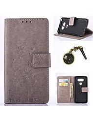 pissenlit PU Cuir Coque Strass Case Etui Coque étui de portefeuille protection Coque Case Cas Cuir Swag Pour LG G5 + Bouchons de poussière (6GB)