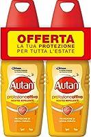 Autan Active Vapo Bipacco, Insetto Repellente e Antizanzare, Lunga Durata, 2 Confezioni da100 ml