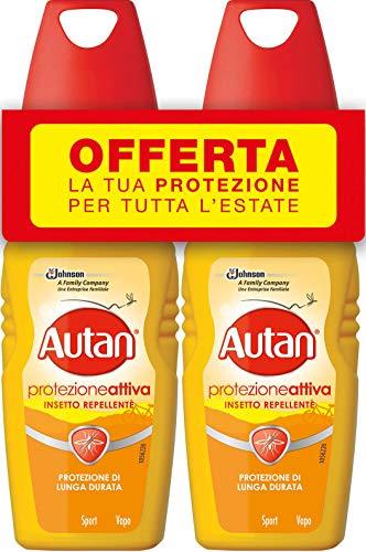 Autan Active Vapo Insetto Repellente e Antizanzare Bipacco - 2 Confezioni da 100 ml