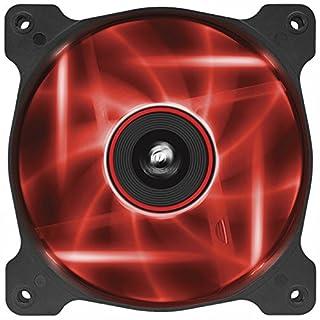 Corsair AF120 LED Quiet Edition High Airflow LED PC-Gehäuselüfter (120mm, Single Pack) rot