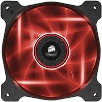Corsair AF120 LED Quiet Edition Ventola da 120 mm, Flusso d'Aria Elevato, Illuminazione a LED Rosso, Confezione Singola
