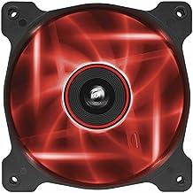 Corsair Air Series AF120-LED Ventola, Insonorizzatto, 120mm, Flusso d'Aria Elevato, Illuminazione a LED, Rosso (Confezione
