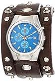 Red Monkey Designs Herren RMVL1-G Violator Chronograph Brown Leather Blue Dial Armbanduhr