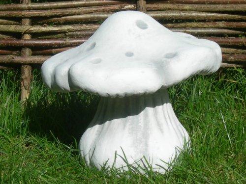 Unbekannt Deko Figur Pilz H 27 cm Pilzfigur aus Beton