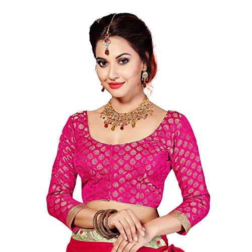 Studio Shringaar Pink Brocade Long Sleeved Formal Blouse