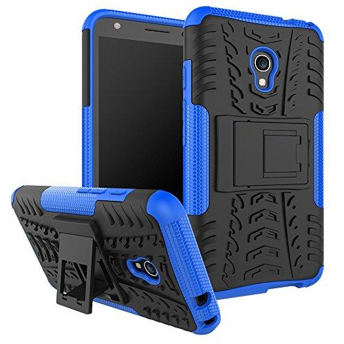 """SsHhUu Funda Alcatel Pixi 4 (5), Heavy Duty Amortiguamiento Cubrir Doble Capa Combinación de Armadura con Soporte Protector Cubrir Case para alcatel Pixi 4 (5) (5.0"""") Azul"""