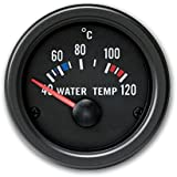 JOM 21116V Manomètre, température d'eau (40~120°C),noir, Ø52mm