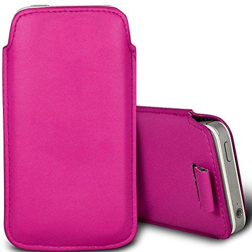 Housse-Pochette de protection en cuir PU avec languette élastique et intérieur doux pour le Apple iPhone