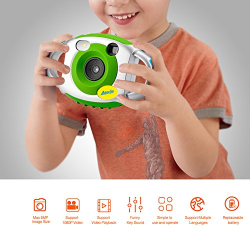 Pueri AMKOV Digitalkamera Kinder Kamera Mini Digital Video Kamera Kompaktkamera with1.44 Zoll Vollfarb-Display Kind Kreative Kamera Kinder (A)