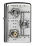 Zippo Bullet Holes 3D Encendedor, Cromo, Talla Única