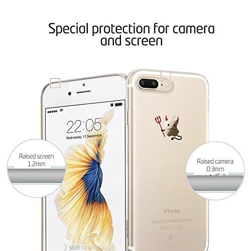 iPhone 7 Plus Hülle (5,5 Zoll), ESR® Mania Series Transparent Weiche Silikon Hülle Muster TPU Bumper Case Schutzhülle für iPhone 7 Plus (Hase) Sturmleiter