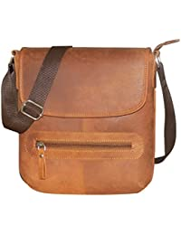 Style98 100% Hunter Leather Handmade Stitched Unisex Sling Bag For Men,Women,Boys & Girls - B06XY3BXQV