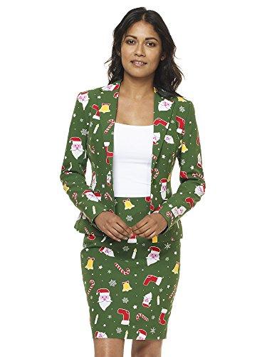 Opposuits Weihnachtsanzüge für Frauen besteht aus Sakko und -