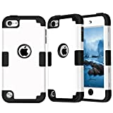 iPod Touch 6 Case,iPod Touch 5 Case ,iSi [Colorful Series] 3-Piece Style Hybrid Silicon Hard Case Cover for Apple iPod Touch 5 6th Generation_2015 Rea