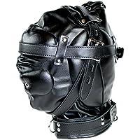 Bondage Kopf Maske abschließbar mit Polsterung in schwarz